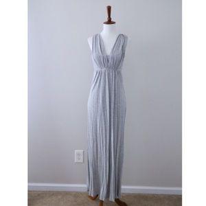 Heathered Gray J Crew Sleeveless V-Neck Maxi Dress